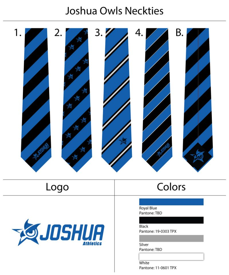 custom logo high school ties