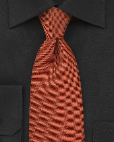 Dark Persimmon Orange Necktie