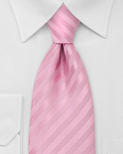 Trendy Pink Tie With Subtle Stripes