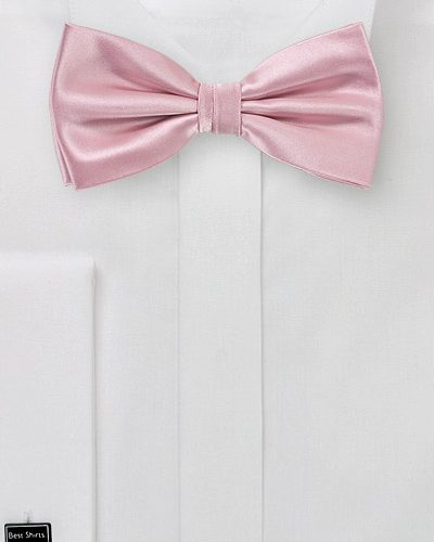 Dusty Pink Colored Bow Tie