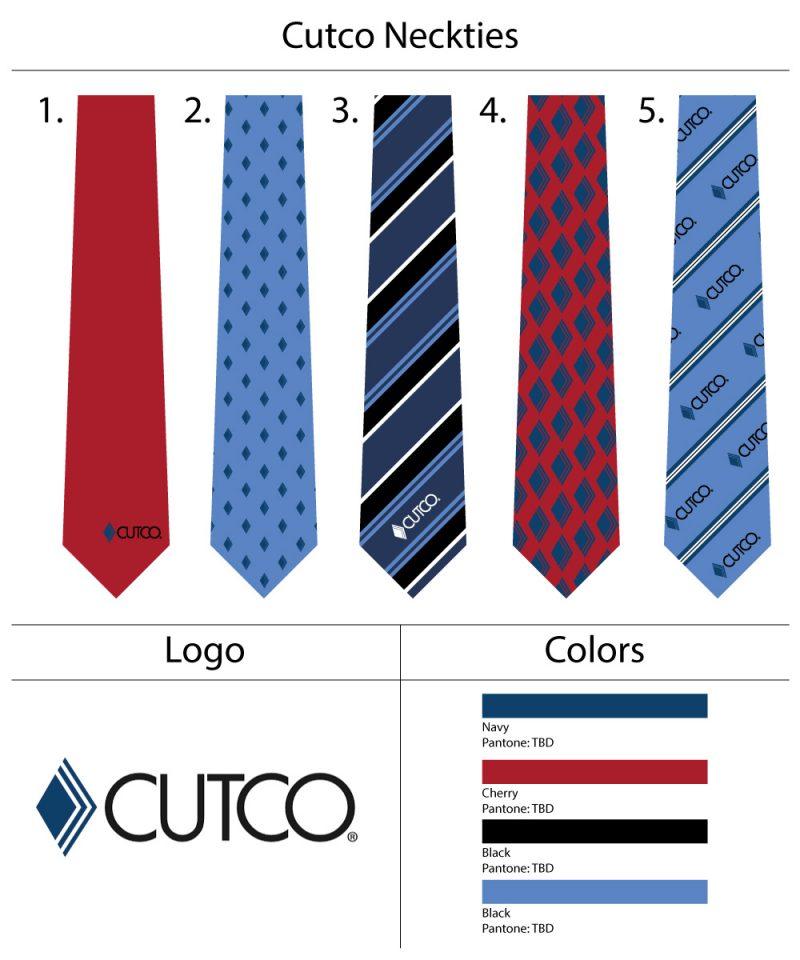 custom logo ties for cutco corporation