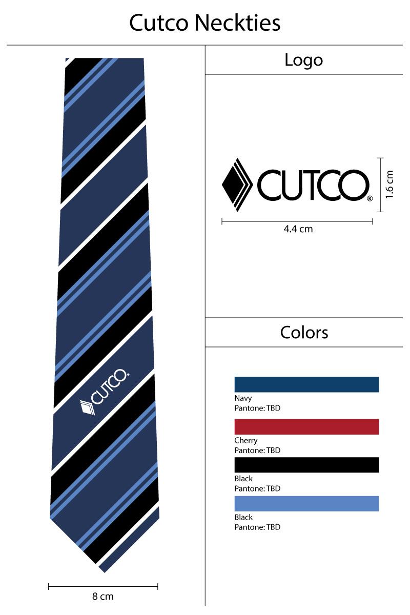 Final Design Mock up Custom Logo Necktie