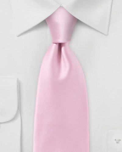 Narrow Cut Rose Petal Pink Necktie