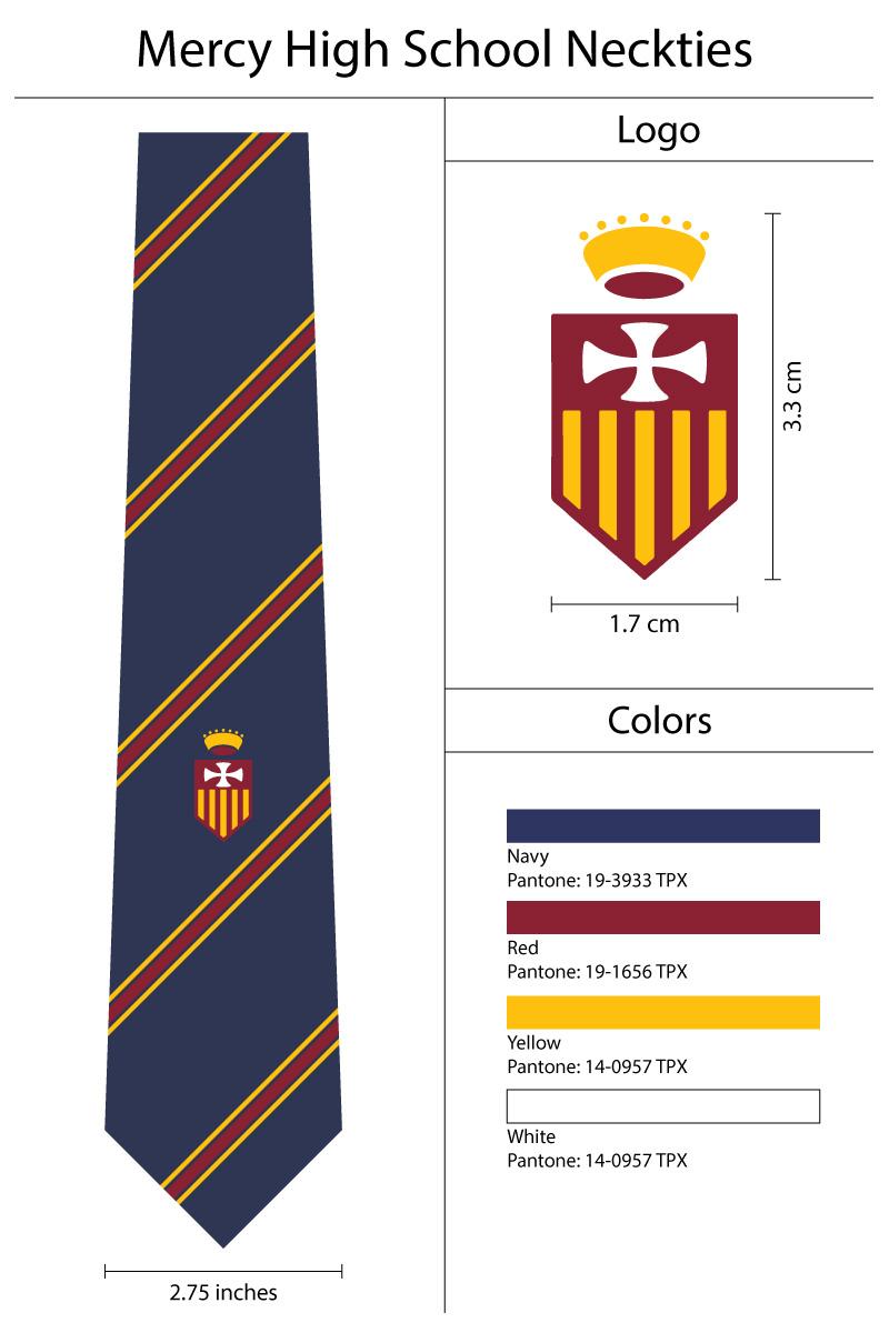 custom ties for high school uniform