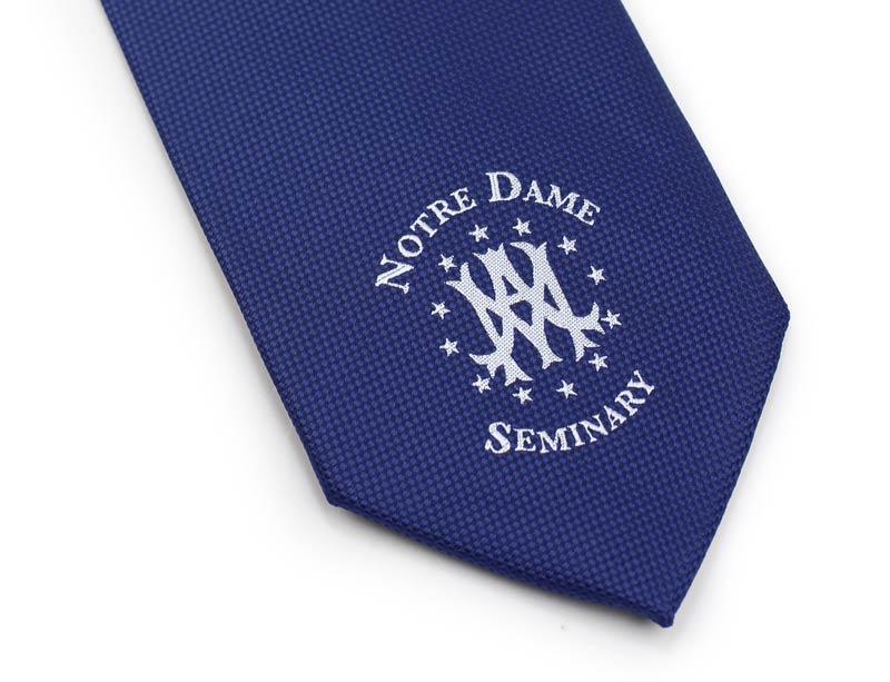 custom logo mens tie