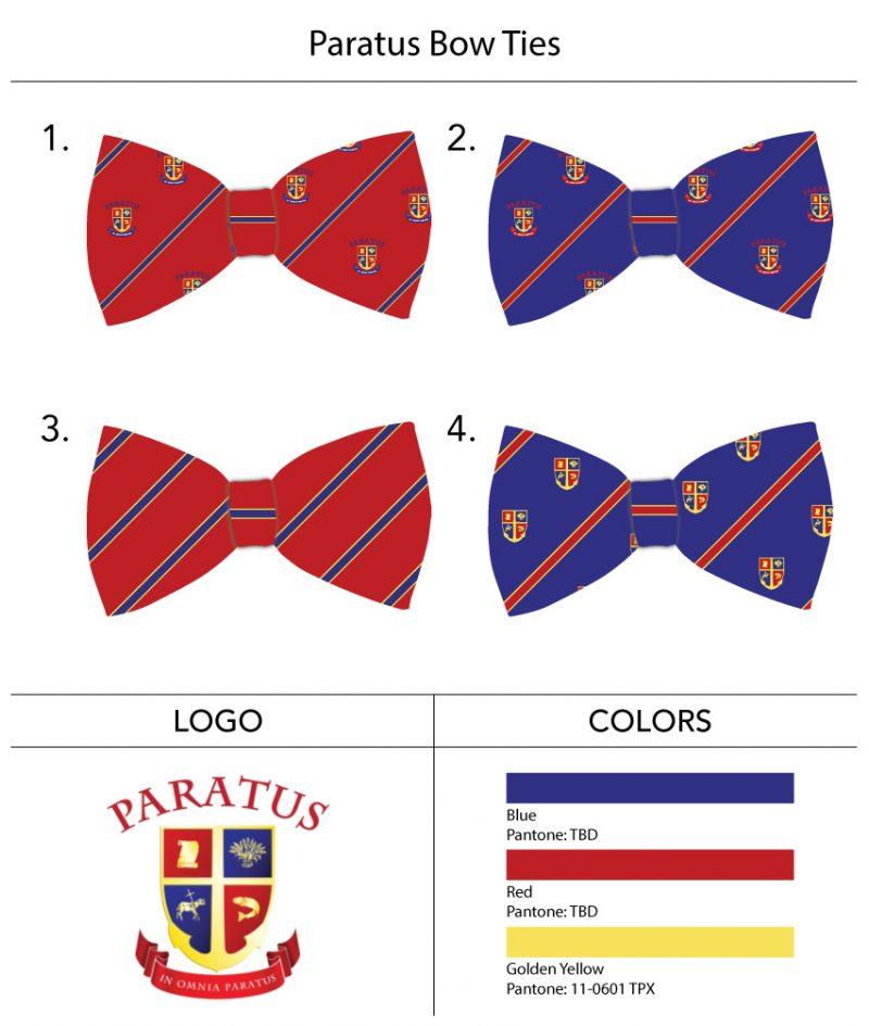 custom boys bow ties with logo