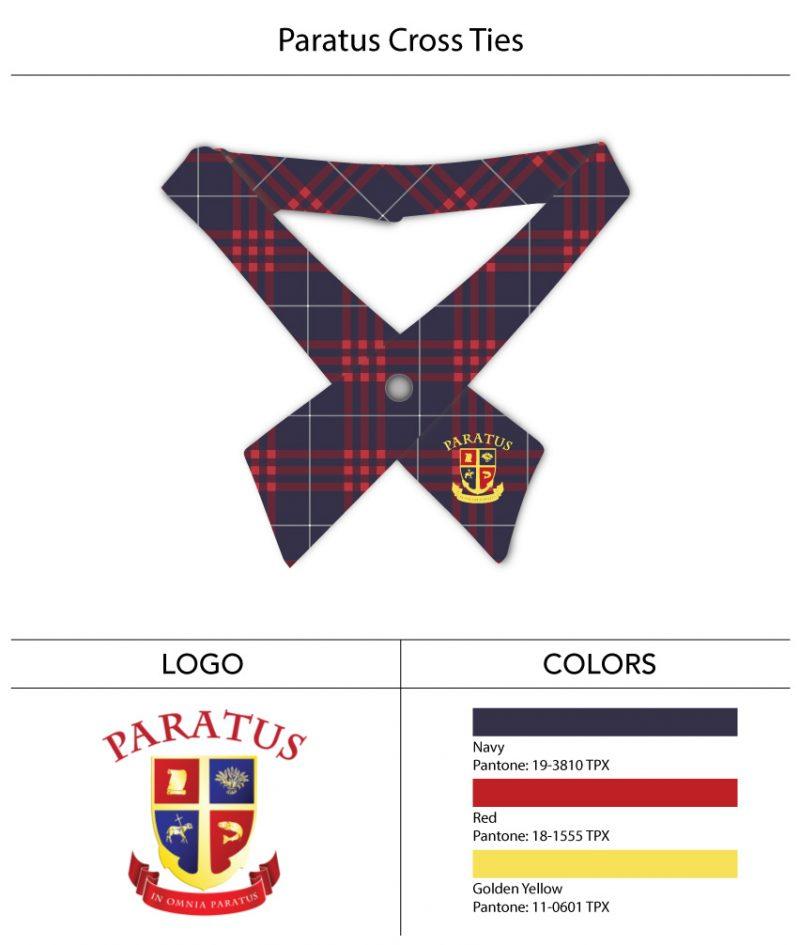 custom girls cross ties school uniform