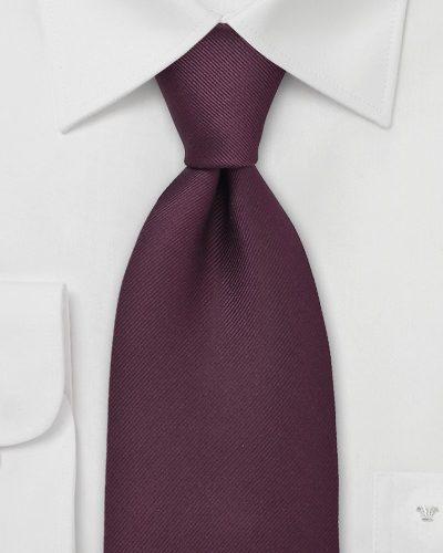 Textured Tie in Tawny Port