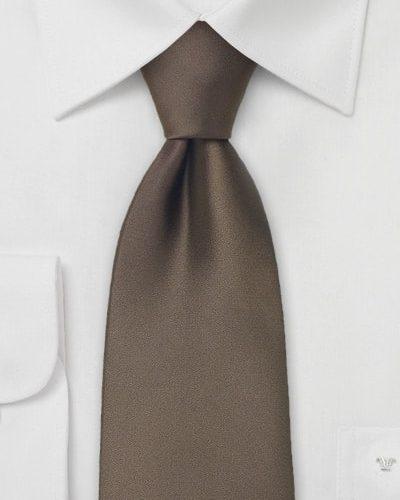 Solid Chocolate Brown Necktie