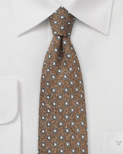 Woven Wool Tie in Hazel Otter Brown