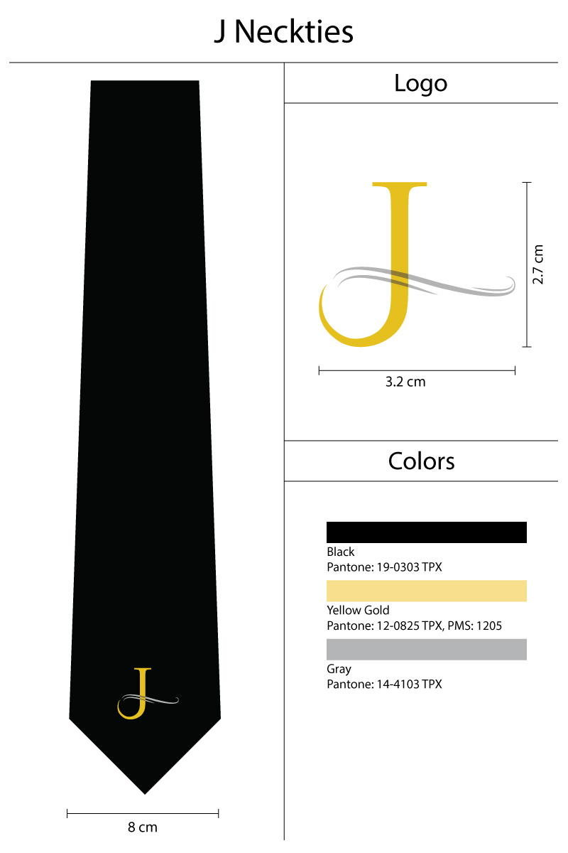 custom black and gold logo tie