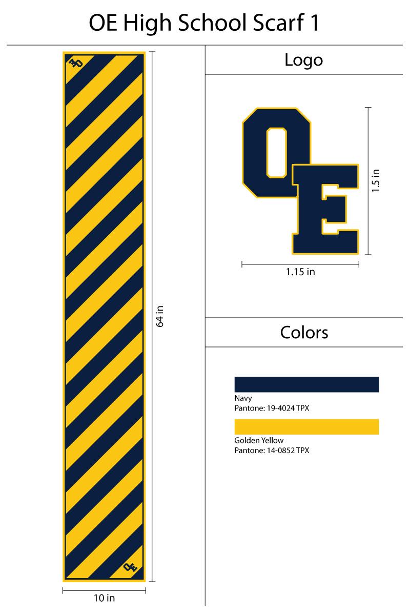 custom oblong neck scarf