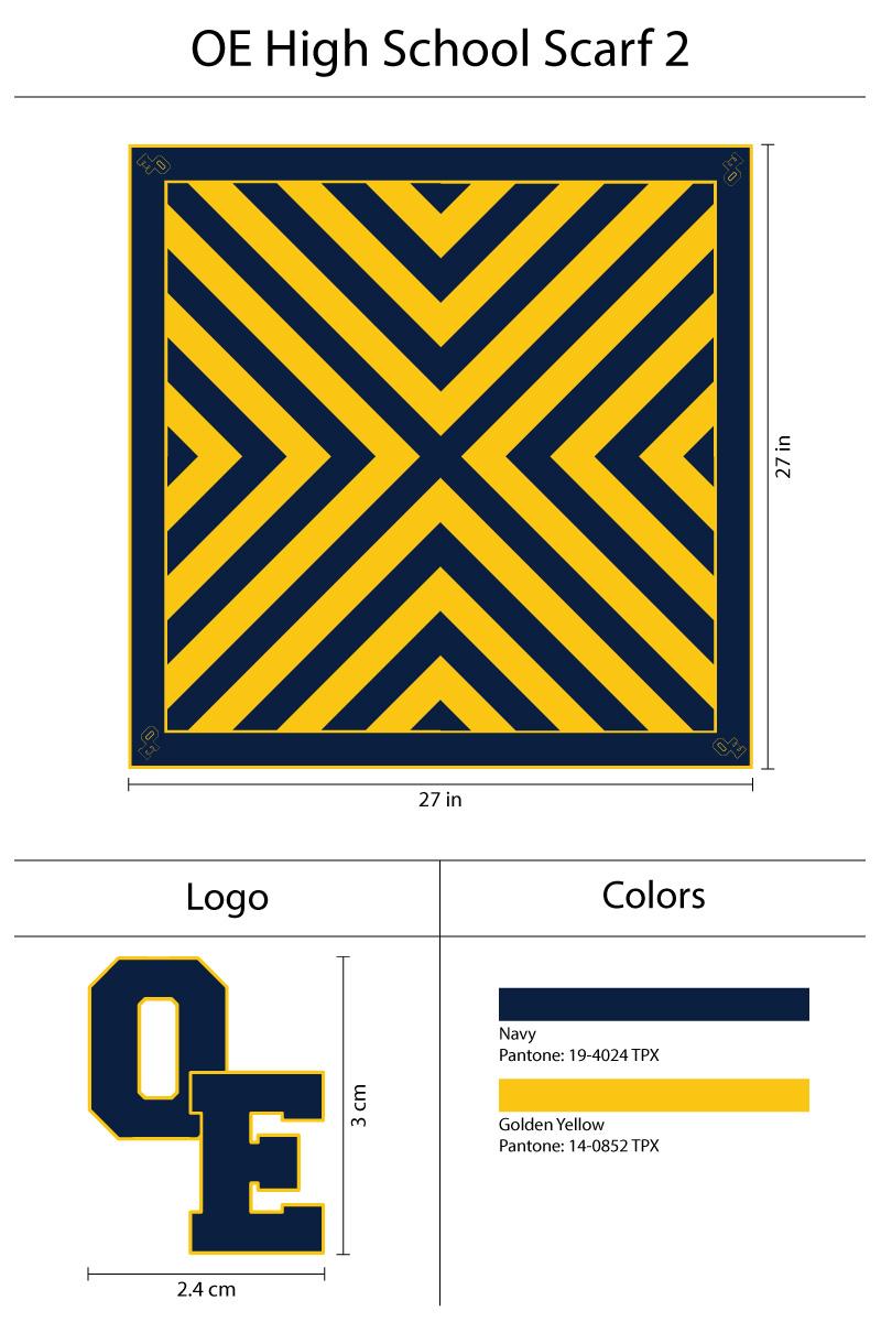 custom high school scarf