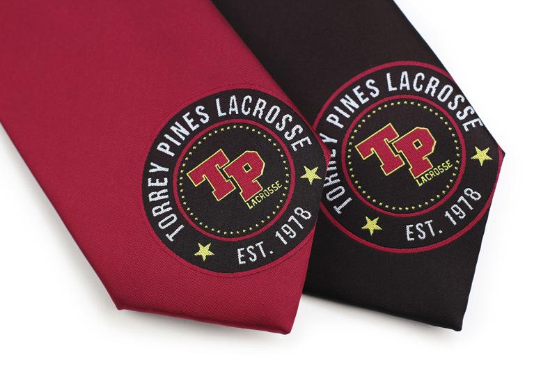 atheltic program custom logo ties