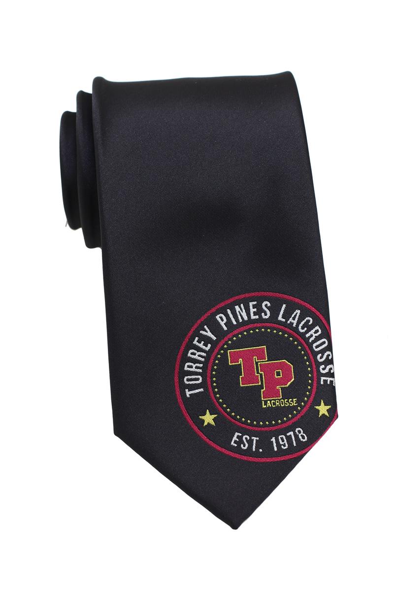 black logo necktie