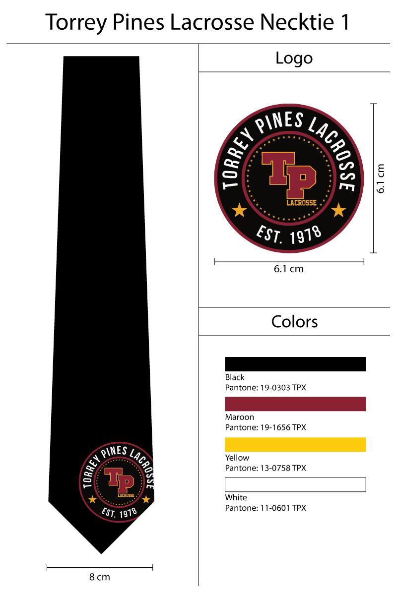 large single logo neckties in black
