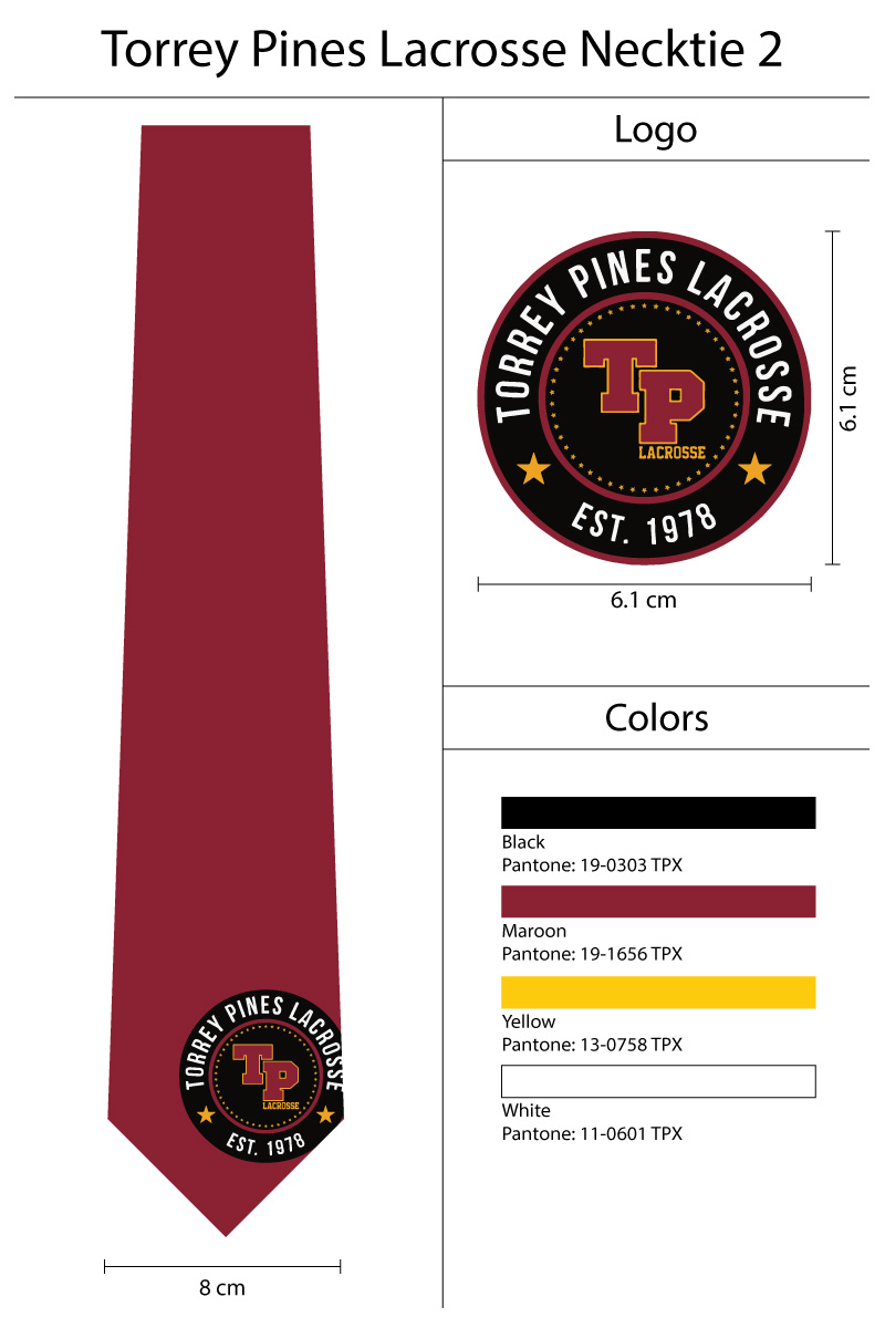lacrosse logo neckties