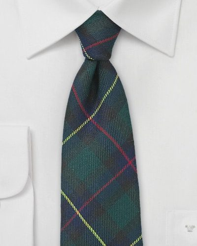 Cheap-Neckties Menswear Color of the Month: Tartan Plaid Flannel Tie in Hunter Green