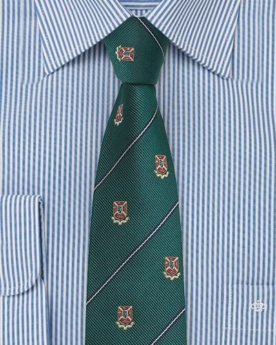 Cheap-Neckties Menswear Color of the Month: Crested Skinny Repp Tie in Dark Green