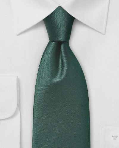 Cheap-Neckties Menswear Color of the Month: Men's Extra Dark Green Tie