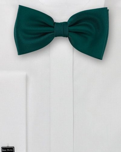 Cheap-Neckties Menswear Color of the Month: Dark Green Bow Tie