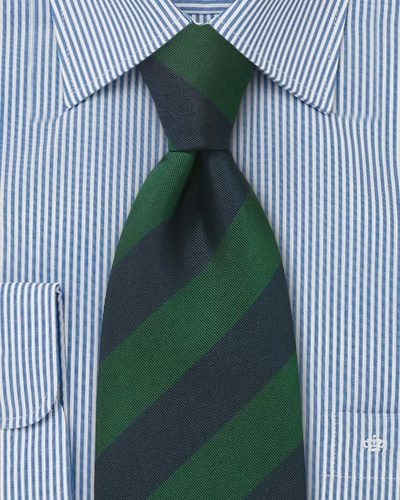 Cheap-Neckties Menswear Color of the Month: Dark Green and Navy British Tie