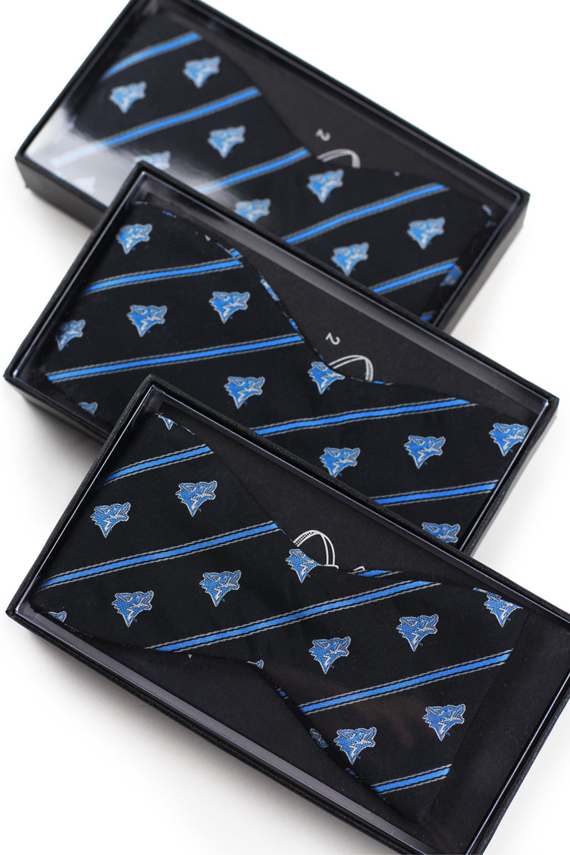 custom logo bow ties with gift boxes