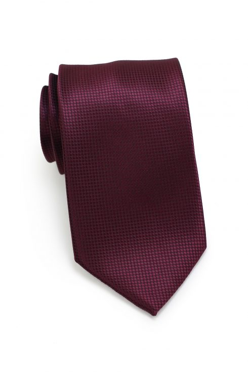 Textured Shiny Mens Necktie in Marsala