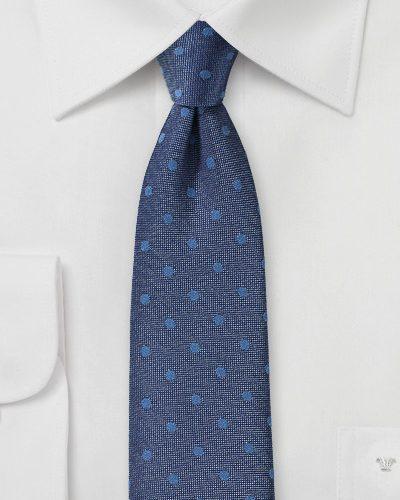 Denim Blue Linen Mens Necktie