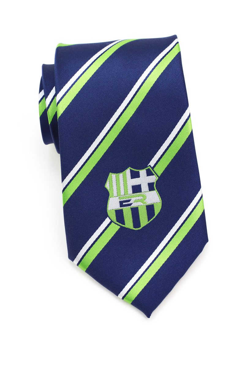 custom striped logo ties for rugby club