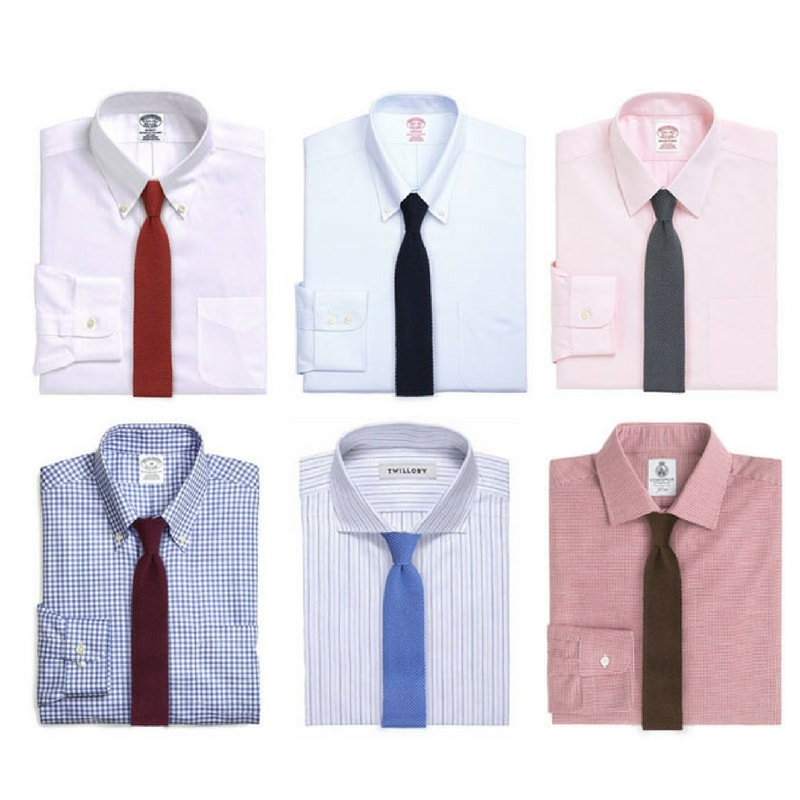 What To Wear With Solid Color Knit Ties