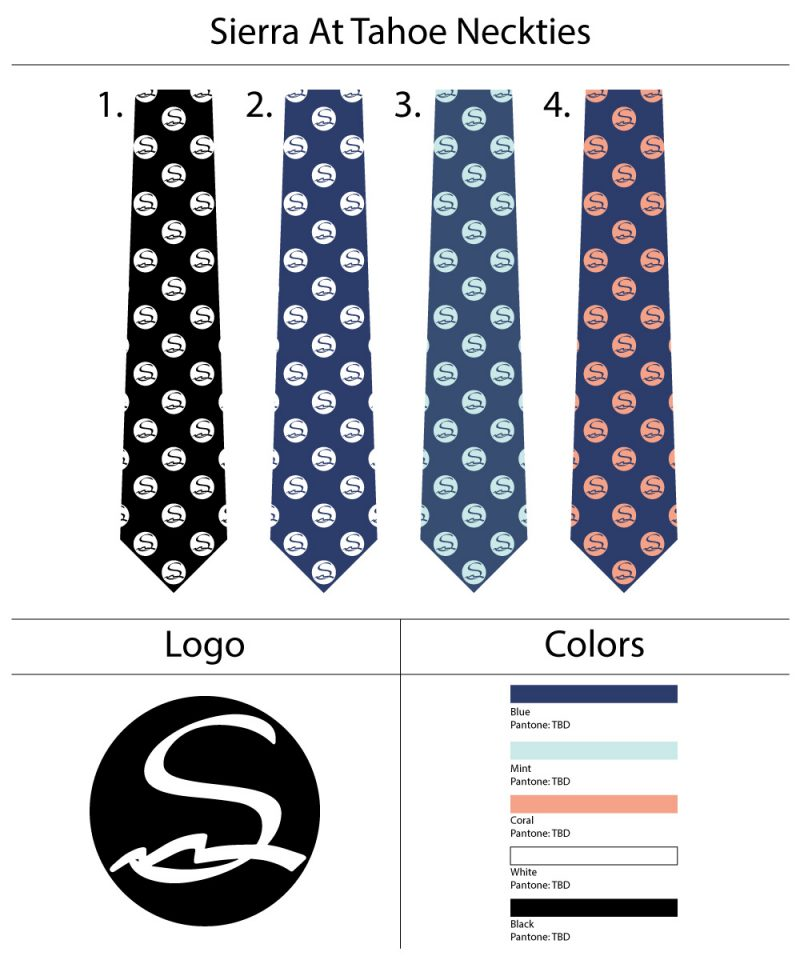 Custom Logo TIes in navy and coral pink