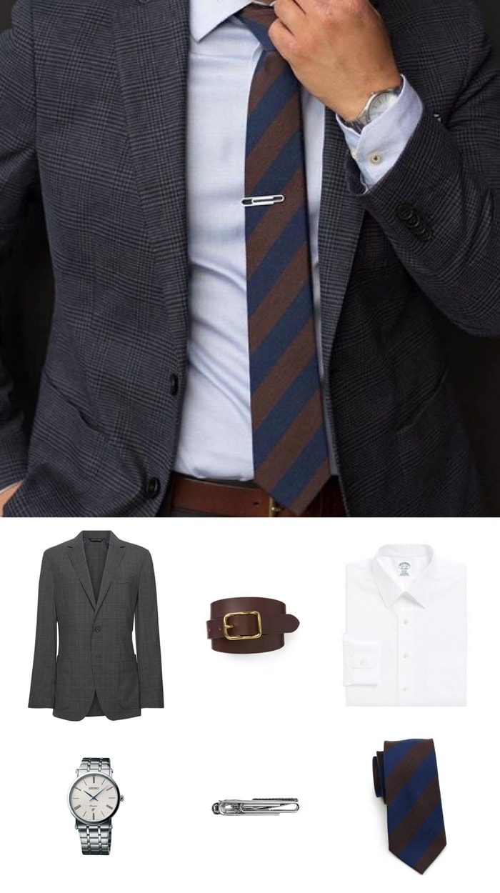 Get The Look - Skinny Striped Necktie