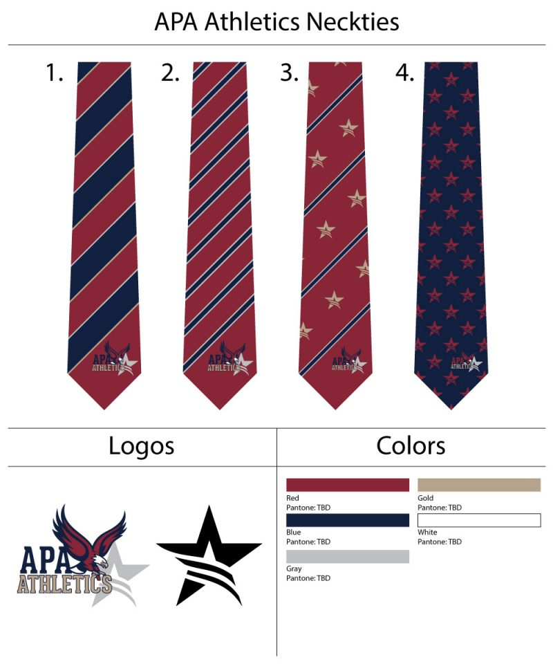 Custom school uniform logo neckties
