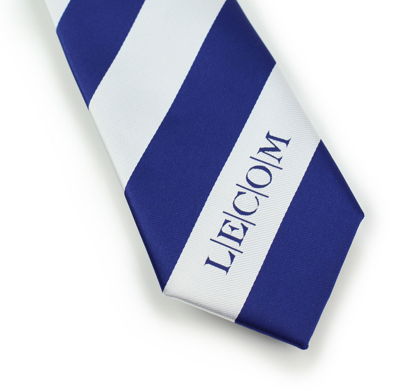 eff3888bd10d Light Silver and Blue Ties with Custom Embroidered Logos