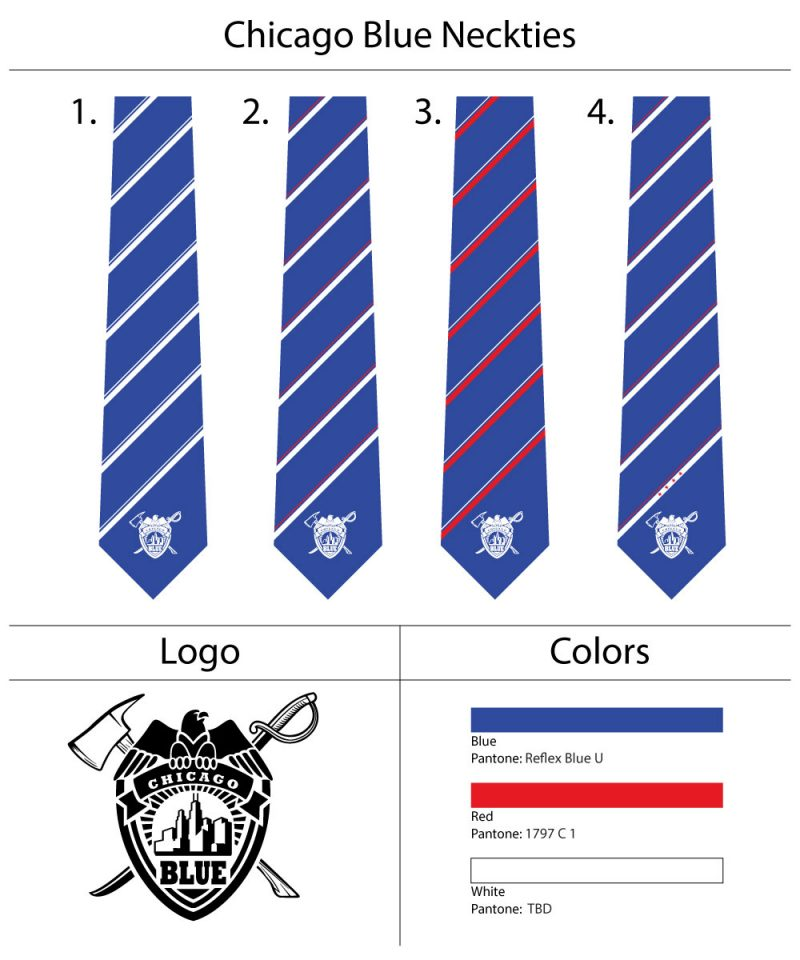 custom striped logo neckties with crests