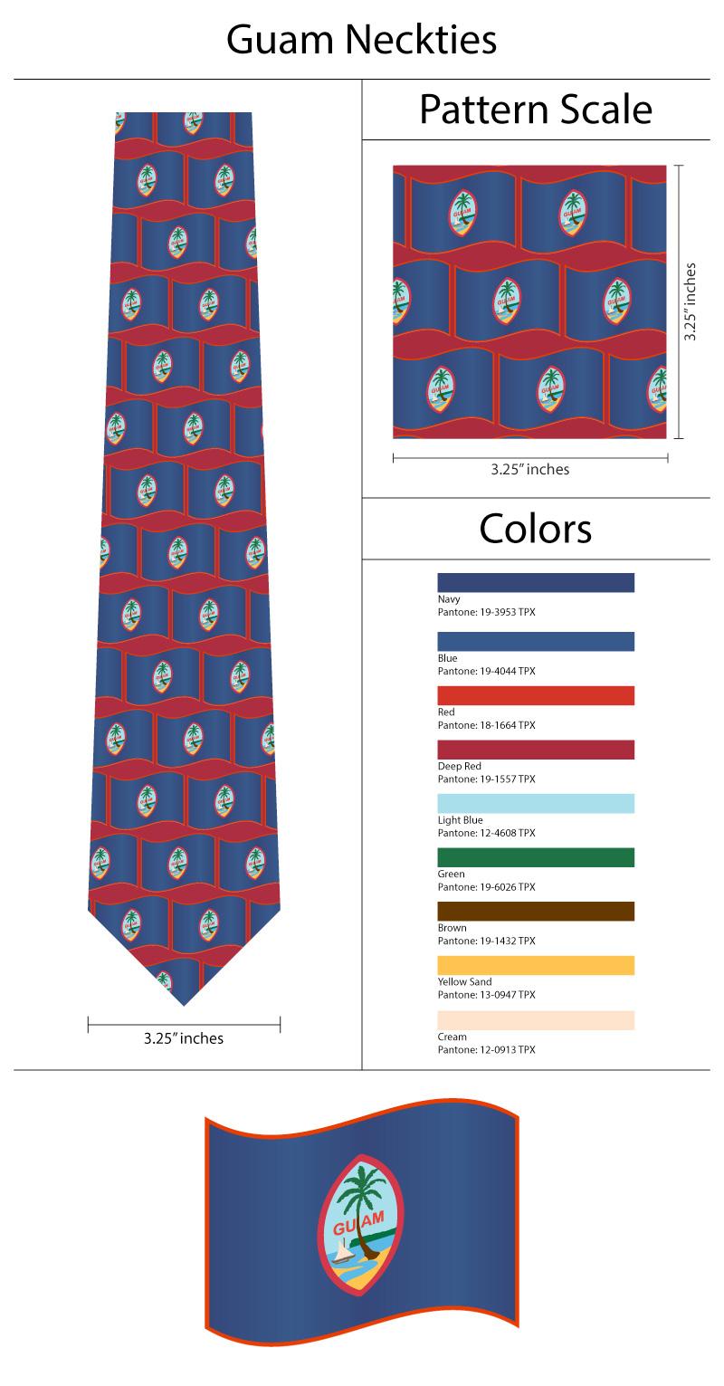 guam necktie custom
