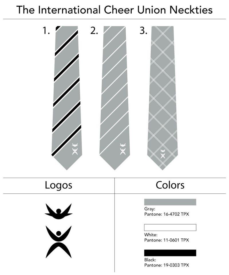 custom silver logo neckties
