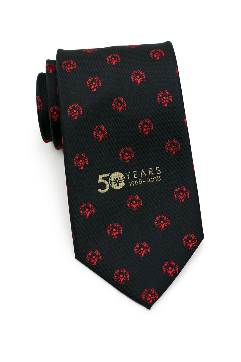 custom logo mens neckties embroidered