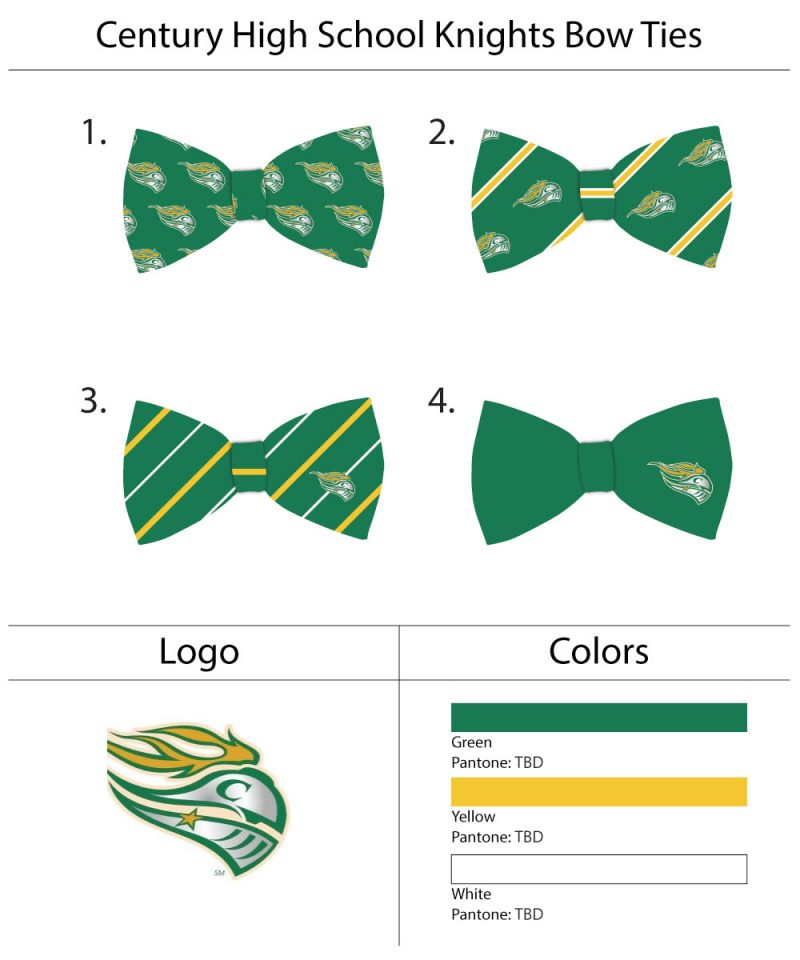 custom high school football bow ties