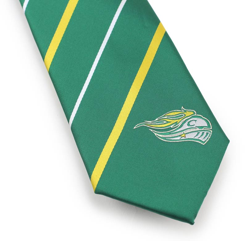custom striped mascot neckties