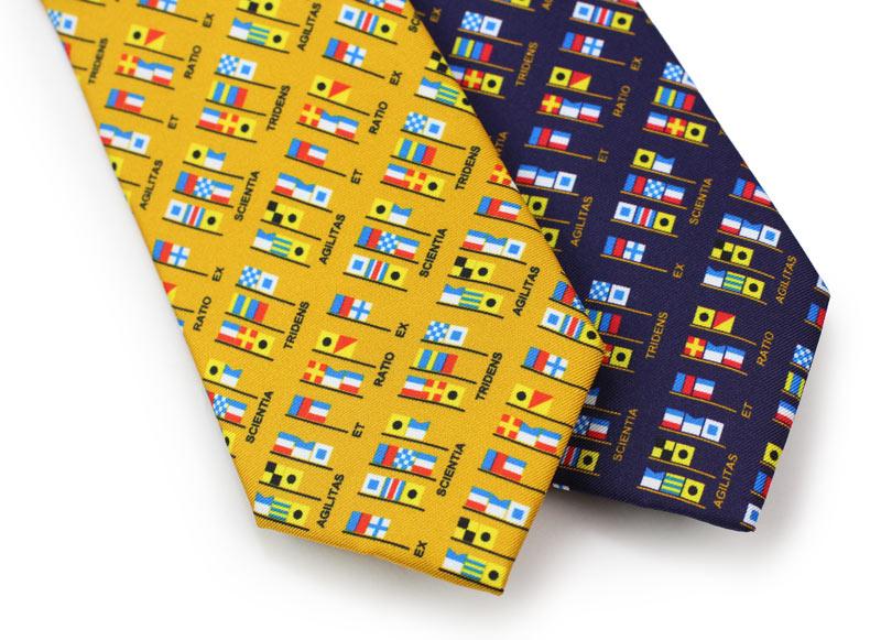 custom printed flag silk ties
