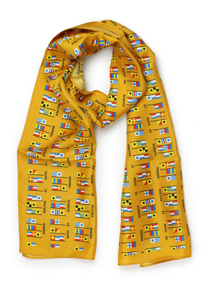 custom gold silk womens scarves