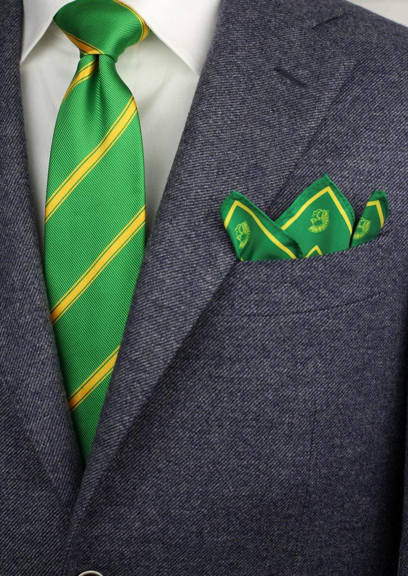 custom high school reunion neckties and pocket squares