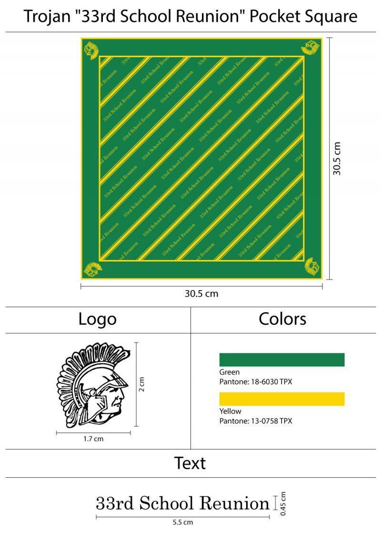 custom mens pocket squares with logos
