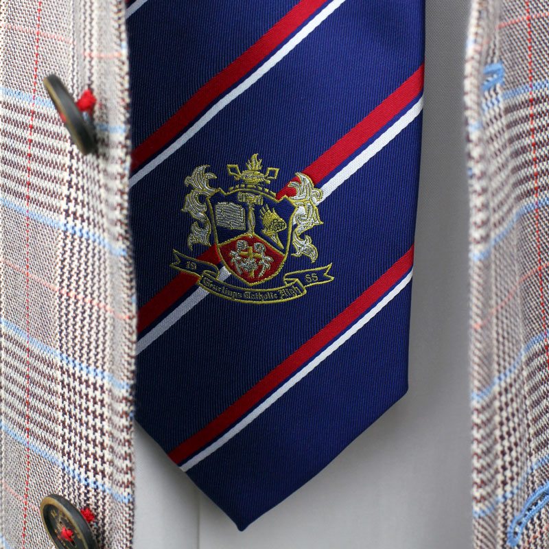custom school neckties with crest