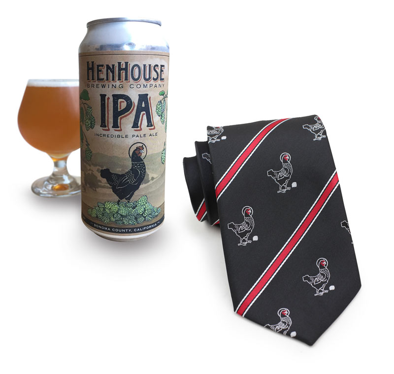 custom uniform neckties for brewery staff