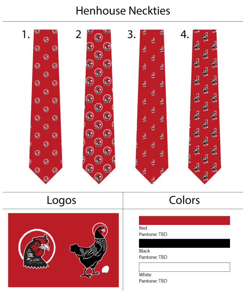 custom necktie design mock ups