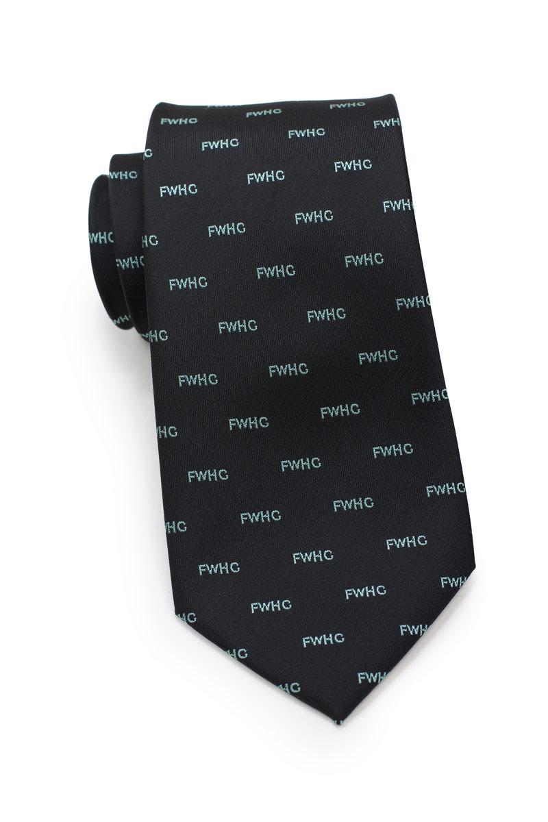 custom text embroidered necktie