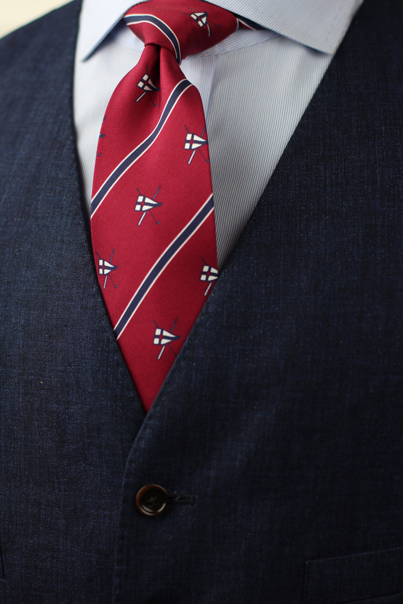 custom burgee mens ties